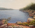 Acadia Fog by Elaine Farmer Oil ~ 8 x 10