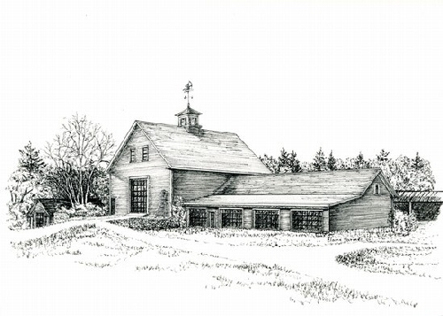 Moose Hill Barn by Elaine Farmer Print ~ 5 x 7 print