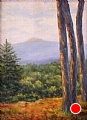 Cathedral Ledge; Jaffrey, NH by Elaine Farmer Oil ~ 8 x 6