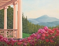 St. Gauden's Porch View by Elaine Farmer Oil ~ 11 x 14