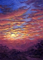 Sunset Fantasy by Elaine Farmer Oil ~ 7 x 5