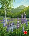 Lupine at Sugar Hill by Elaine Farmer Oil ~ 10 x 8