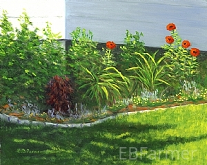 Poppy Power by Elaine Farmer Oil ~ 8 x 10