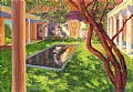St. Gaudens Courtyard by Elaine Farmer Oil ~ 5 x 7