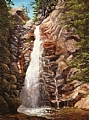 "Glen Ellis Falls ""Fast Lane"" by Elaine Farmer Oil ~ 12 x 9"