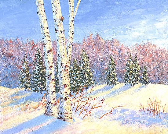 Snow Birch - Acrylic