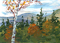 Autumn Mtns by Elaine Farmer Oil ~  x