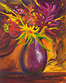 Flower Explosion by Elaine Farmer Oil ~ 8 x 10