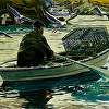 Monhegan Lobsterman Rowing