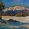 Snowy Katahdin From Millinocket Lake