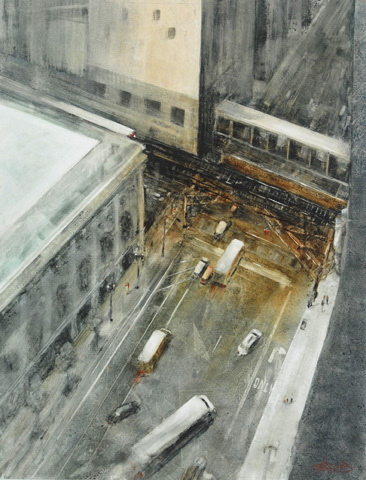 THE VIEW FROM 11 B - Watercolor