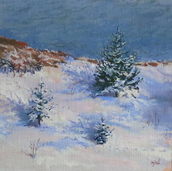 Snowy Fox Trot - Oil