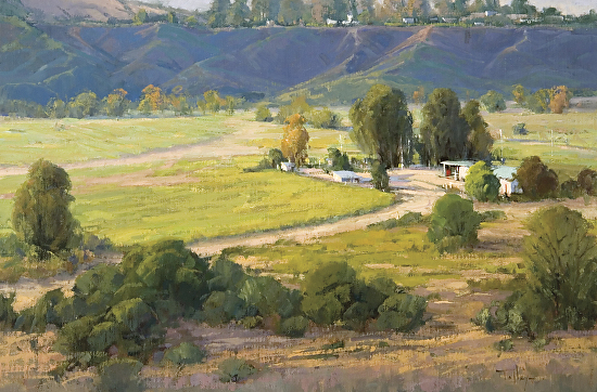 Morning on the San Mateo - Oil