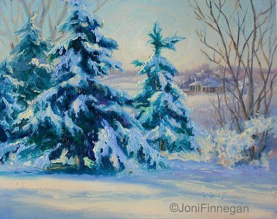 Magical Winter Wonderland - Oil