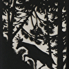 Deer In The Woods by Susan Parmenter hand cut paper ~ 7 x 5""