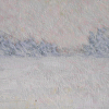 "Winter White Out-oil sketch on gessoed paper by Susan Parmenter Oil ~ 3"" x 4.5"""
