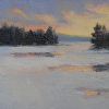"Jobs Creek In Winter by Susan Parmenter Oil ~ 4"" x 6"""