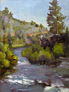 Des Chutes River, Bend, Oregon by Keene Wilson  ~ 16 x 12