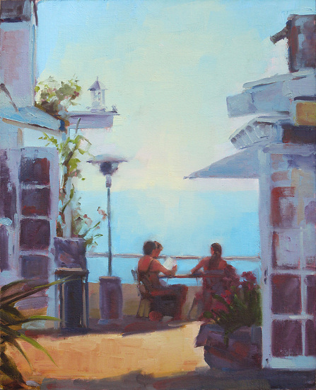 Laguna Terrace by Keene Wilson Oil ~ 20 x 16