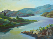 Cool Lake Casitas by Keene Wilson Oil ~ 12 x 16