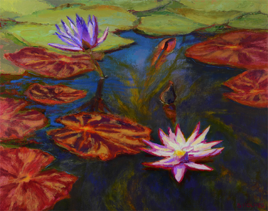 The Lily Pond - Oil