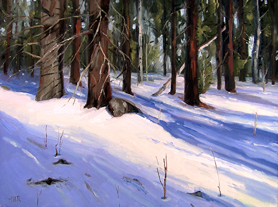 Winter Shadows - Oil