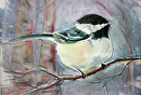 Chickadee by Diane Wallace Watercolor ~  x