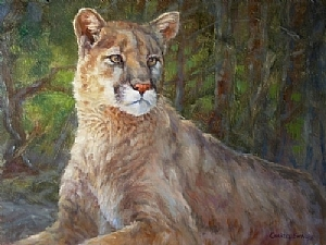 Quiet Interest by Charles Ewing Oil ~ 18 x 24
