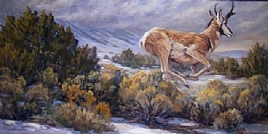 Kin to the Wind by Charles Ewing Oil ~ 36 x 72