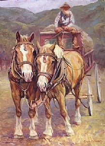 Power of Tandem by Charles Ewing Oil ~ 30 x 22