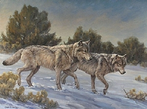 Hunting the Cedar Breaks by Charles Ewing Oil ~ 30 x 40