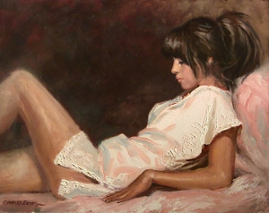 Rosada Repose by Charles Ewing Oil ~ 16 x 20
