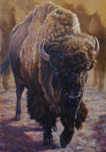 Massive Motion by Charles Ewing Oil ~ 40 x 28