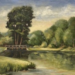 Harry Neely - Landscape Painting Sandhills Community College