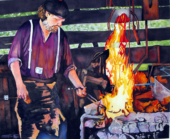 The BLACKSMITH - Watercolor