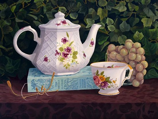 Tea in the Garden - Oil