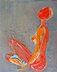 "orange nude by Deborah Argyropoulos Oil ~ 8"" x 10"""