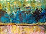 blue mesa by Deborah Argyropoulos Mixed Media ~  x
