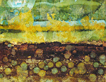 stepping stones 2 by Deborah Argyropoulos Mixed Media ~  x
