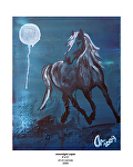 moonlight caper by Deborah Argyropoulos Oil ~  x