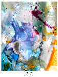 "chimera 22 tn by Deborah Argyropoulos Watercolor ~ 24"" x 30"""