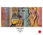 golden whimsy by Deborah Argyropoulos Oil ~  x