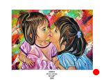 sisters by Deborah Argyropoulos Oil ~  x