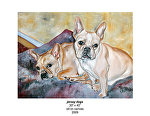 jersey dogs by Deborah Argyropoulos Oil ~  x