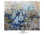white sails by Deborah Argyropoulos oil and sand ~  x