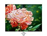 roses by Deborah Argyropoulos Oil ~  x