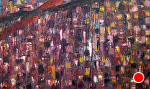 "kimberlys world by Deborah Argyropoulos  ~ 36"" x 60"""