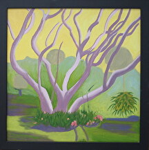 "Bo Tree and Staghorn Fern by Mary Murphy Oil ~ 20"" x 20"""