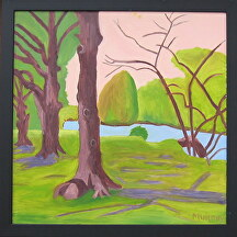 "Byrd Park II by Mary Murphy Oil ~ 20"" x 20"""