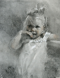 Precious by Michael Maczuga Charcoal ~ 29 x 19